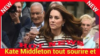 Kate tout sourire et décontractée avec William au lendemain de la naissance du bébé de Meghan