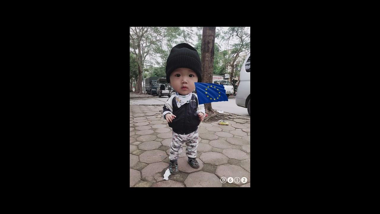 Dạy bé nhận biết hết lá cờ các nước châu Âu. Dũng Junior