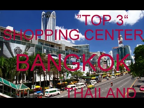 """TOP 3"" BIGGEST SHOPPING CENTER and MOST FAMOUS MALLS BANGKOK Thailand Asia Travel trip around world"