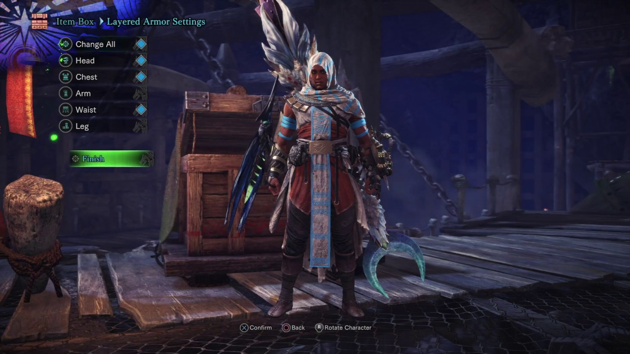SDF: Silent, Deadly, and Fierce (Bayek Layered Armor ) - MONSTER HUNTER:  WORLD™ (PlayStation®4*Pro)