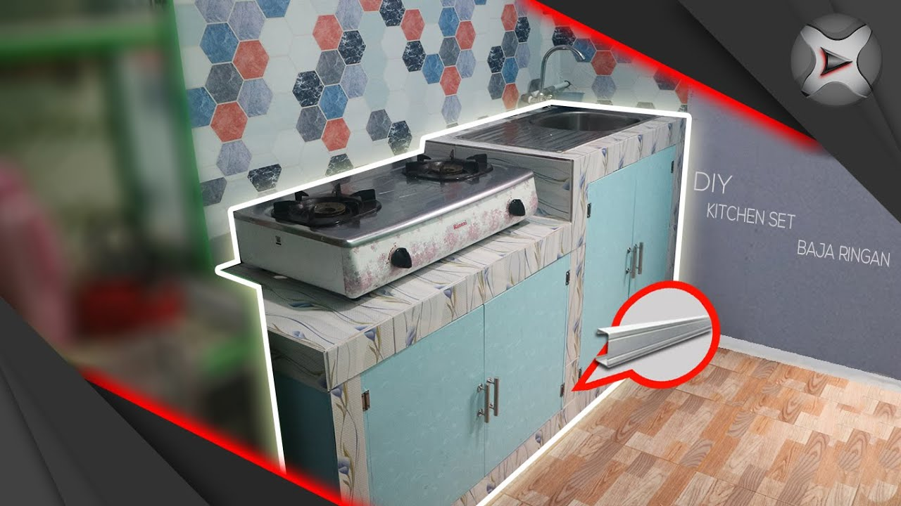 Cara Membuat Meja Kompor Wastafel Kitchen Set Dari Baja Ringan Youtube