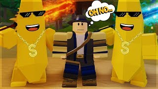 TWO BANANAS CARRY PART 2 *FUNNY MOMENTS* DUNGEON QUEST ROBLOX