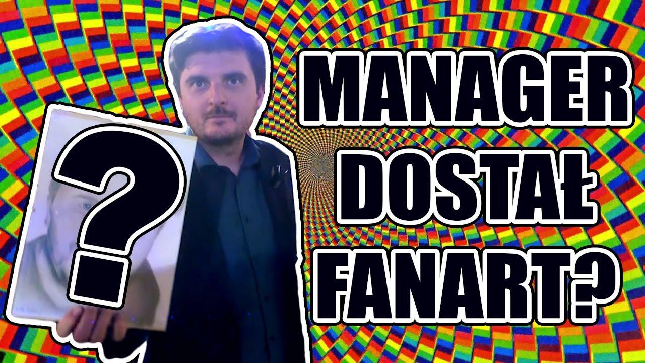 MÓJ MANAGER DOSTAŁ FANARTA! VLOG ft. REZI, MULTI, POLIPLOT
