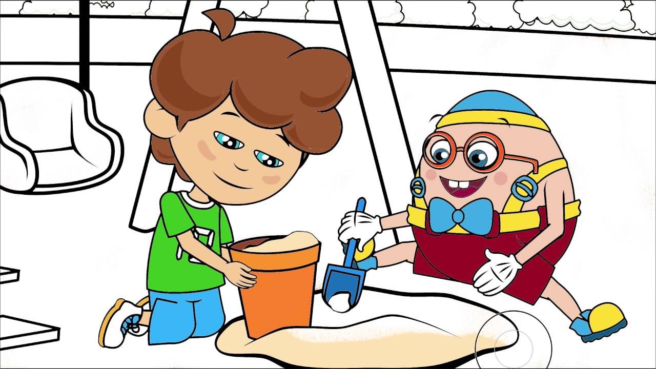 Sevimli Dostlar çizgi Film Karakter Boyama Sayfası 7 Minik Eller