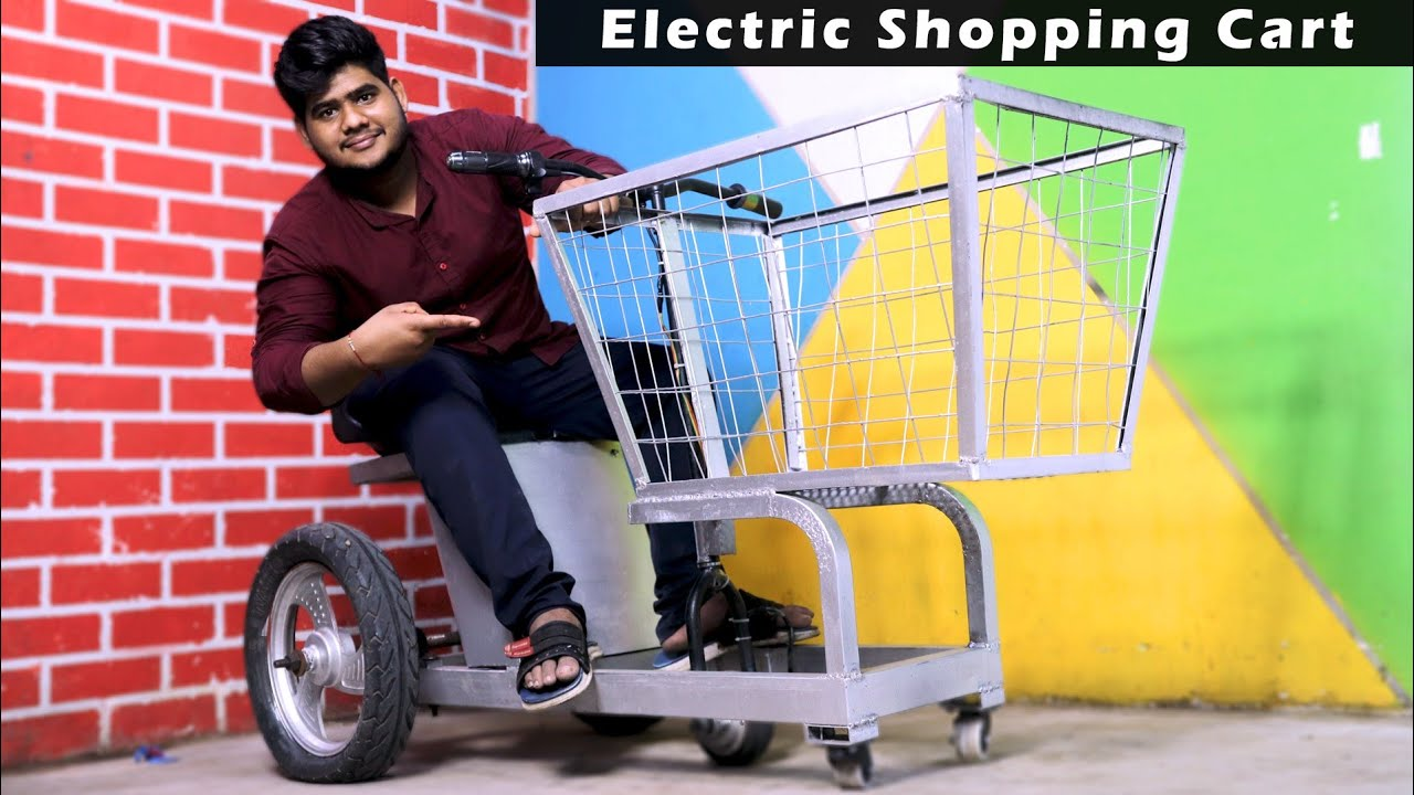 how to make electric shopping kart || DIY Project