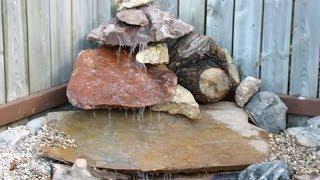 Как сделать простой водопад во дворе(Хотите сделать простой водопад без особых затрат? Посмотрите это видео http://dachasvoimirukami.ru как сделать водопад..., 2014-06-04T09:25:19.000Z)