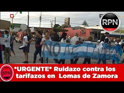 *URGENTE* Ruidazo contra los tarifazos en  Lomas de Zamora