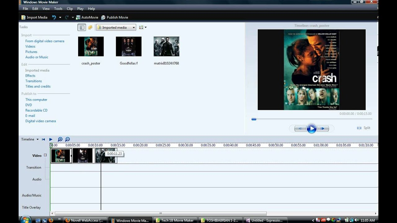 Movie Maker Tutorial Timeline View - YouTube
