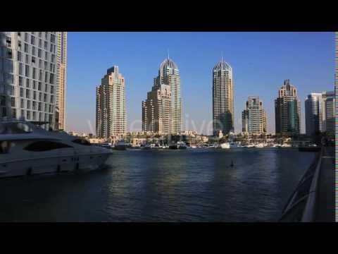 Shot Of Modern Buildings At Dubai Marina, United Arab Emirates 2 - Stock | VideoHive 12880008