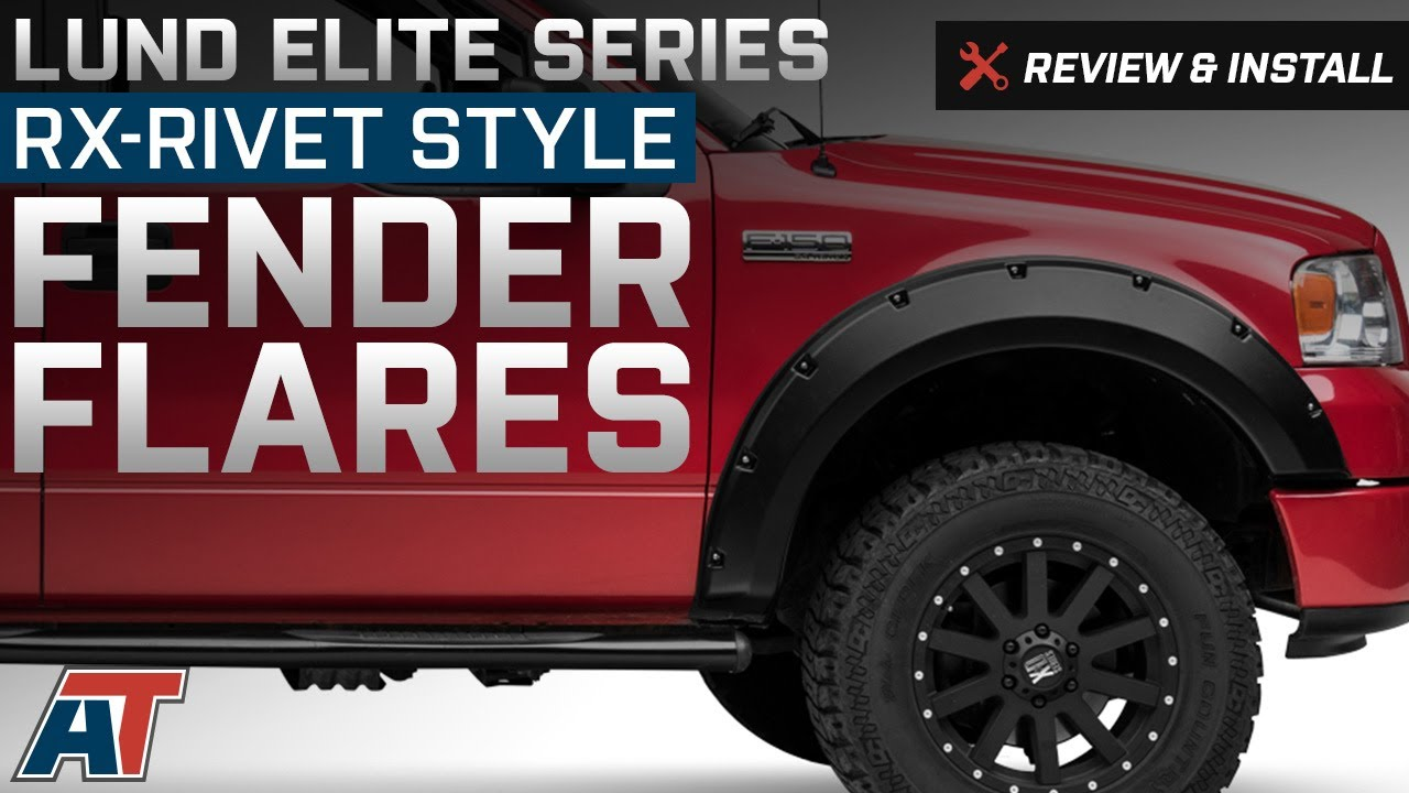2004 2008 f150 lund elite series rx rivet style fender flares review install