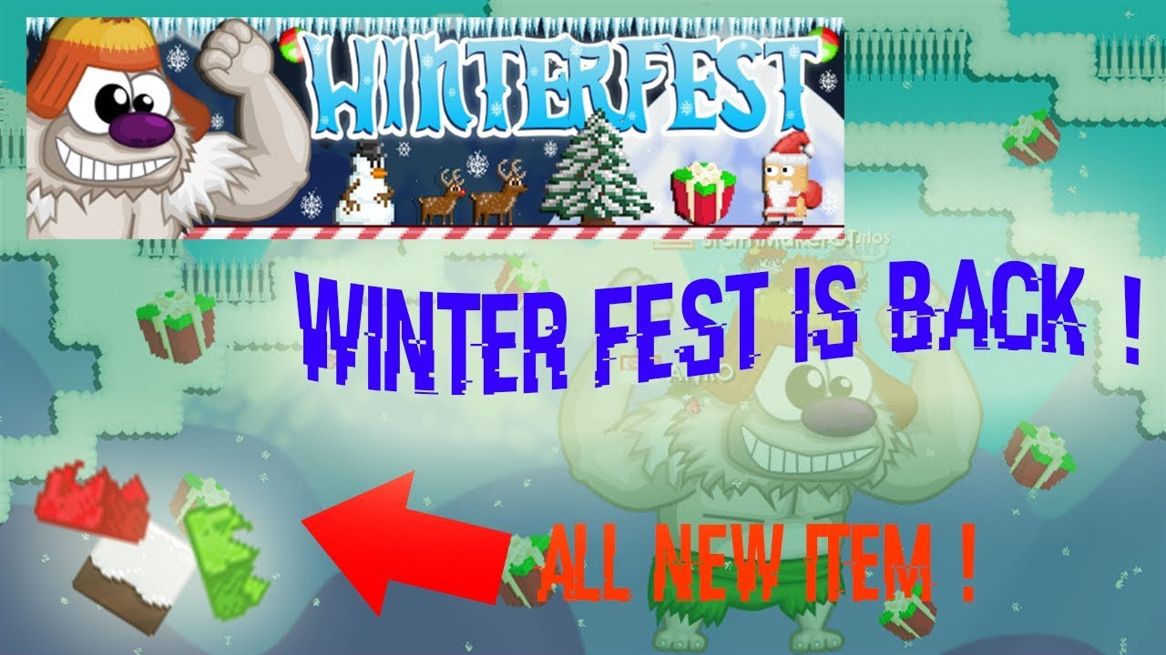 growtopia winterfest is back reviewing all new. Black Bedroom Furniture Sets. Home Design Ideas