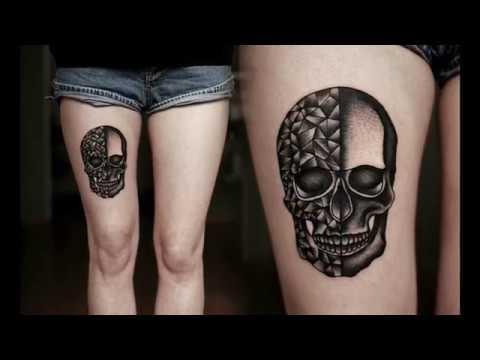 Pretty Girly Skull Tattoo Designs - YouTube