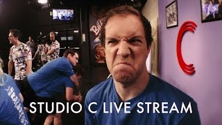 Studio C live stream behind the scenes. vlog