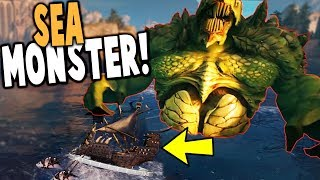 NEW* LEVIATHAN BOSS SEA MONSTER SINKS MY SHIP!  - Maelstrom Gameplay