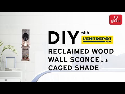 DIY Reclaimed Wood Caged Wall Sconce