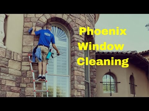 Commercial window cleaning service in Phoenix Arizona