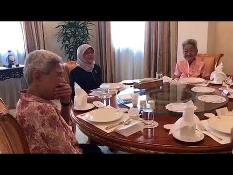 President Halimah Yacob meeting supporters Sim Goon Hua and Lim Ah Kheoh
