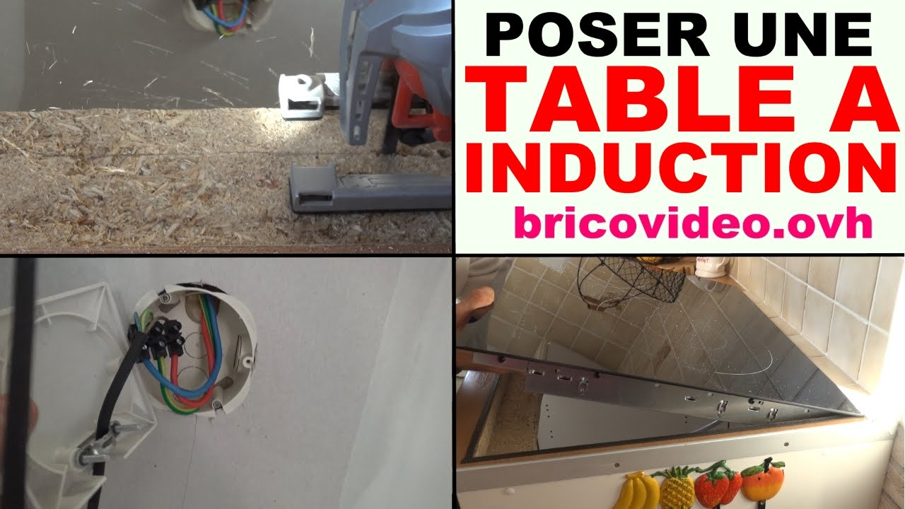 Installer Une Table De Cuisson A Induction Vitroceramique Youtube