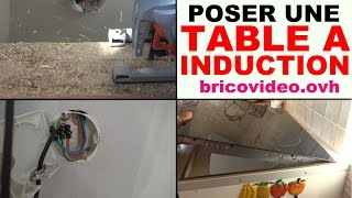 installer une table de cuisson a induction vitroceramique