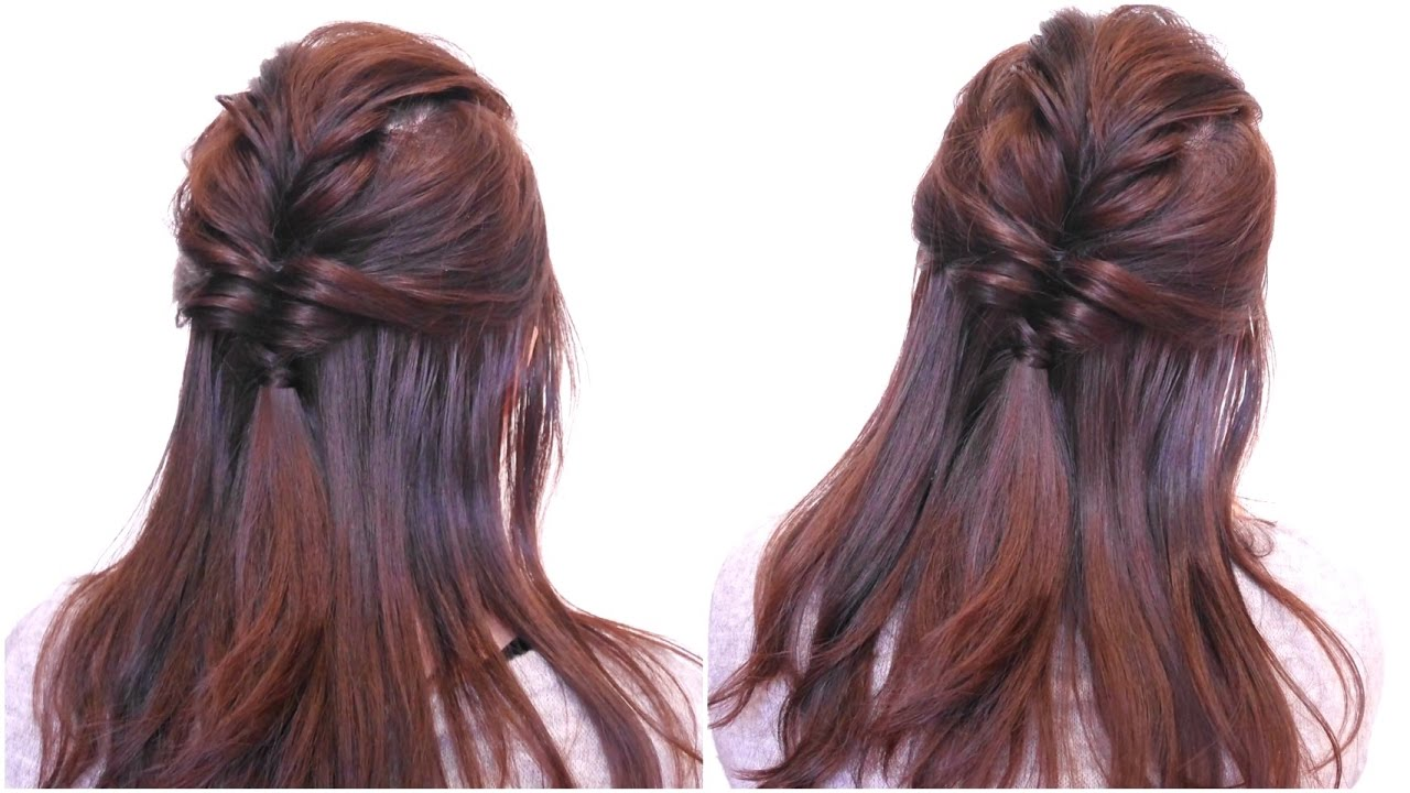 極簡日系蓬鬆公主頭 Easy Twist Half Up Half Down Hairstyle