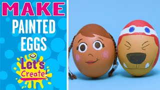 Learn how to make Painted Easter Eggs with Boomerang Let's Create! ...