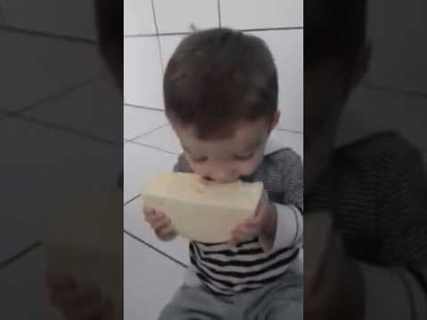 Boy Caught Eating Cheese