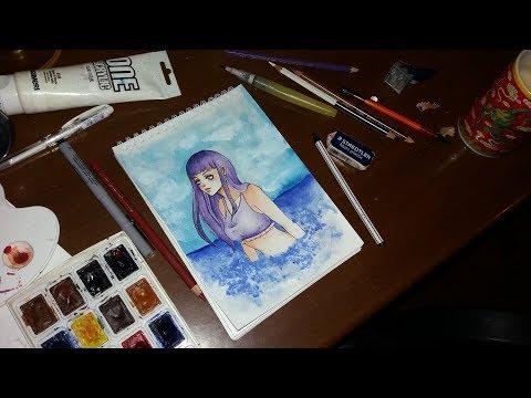 Hinata Hyuga (Naruto Shippuden) - Speed Painting