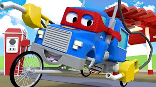 The bike truck - BICYCLE Carl the Super Truck - Car City ! Cars and Trucks Cartoon for kids