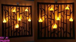 DIY Wall Art using Cardboard | DIY Home decor| DIY Candle Holder using Cardboard | DIY wall Decor