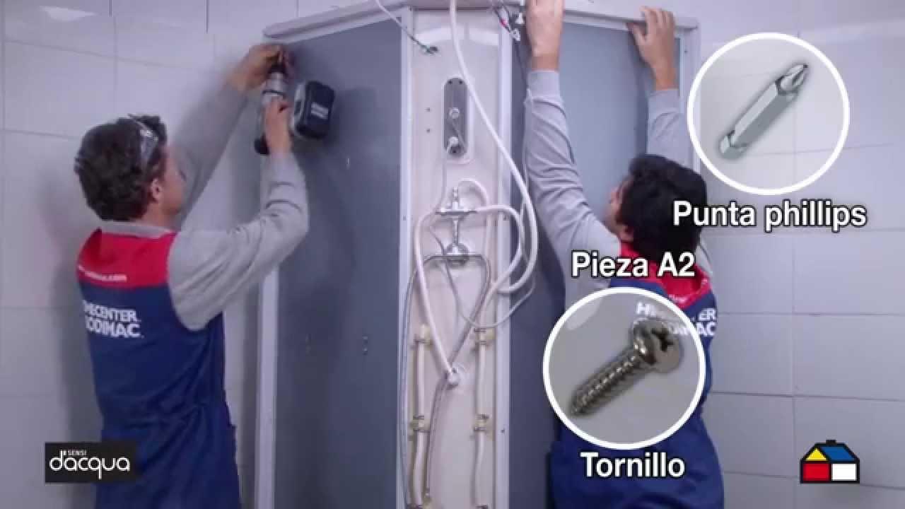Instala una cabina para ducha con radio youtube for Llaves para duchas sodimac