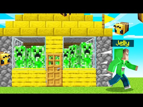 I TROLLED My FRIEND With CREEPERS In BEE TOWN... (Minecraft)