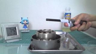 サラダオイルストーブの点火と消火(Ignition and fire extinguishing of a salad oil stove )