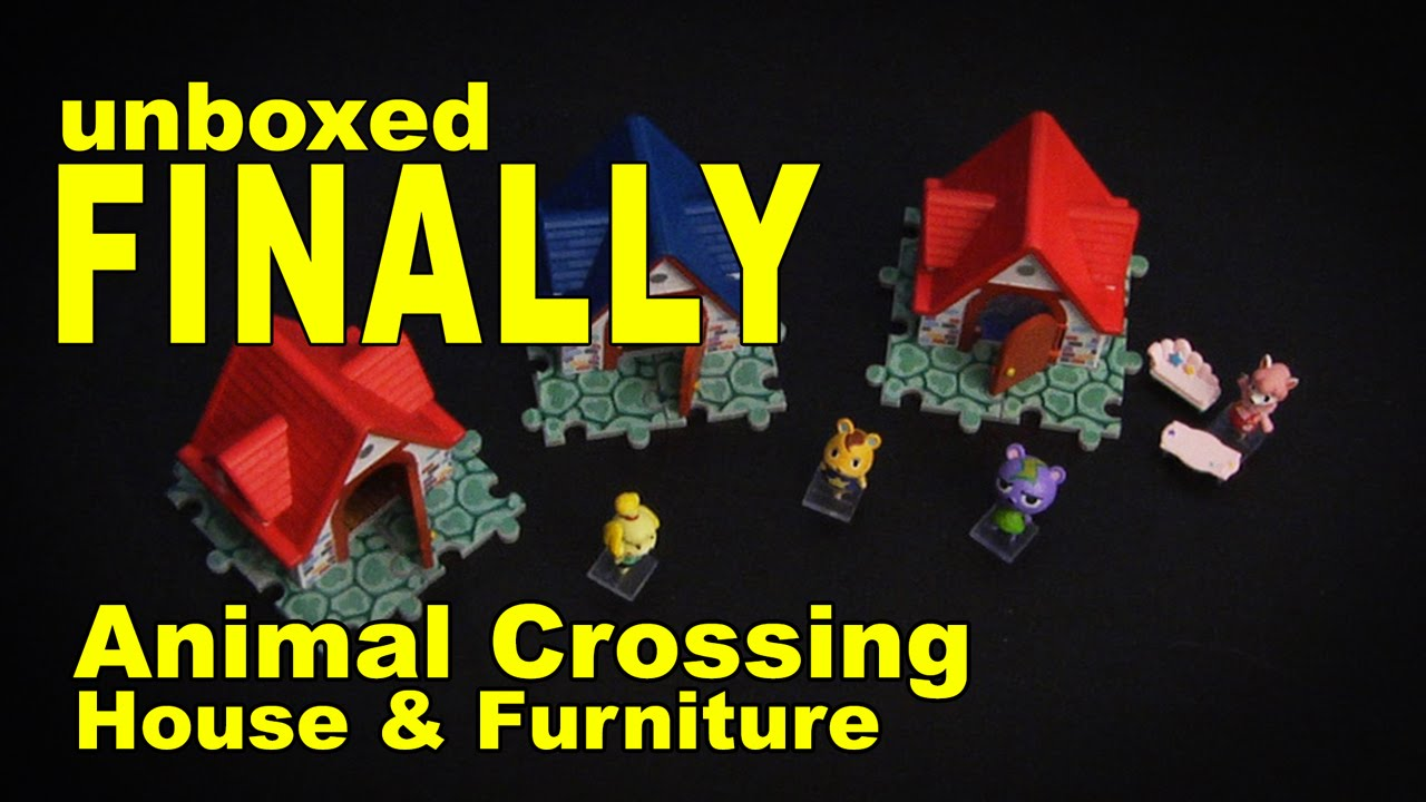 Animal Crossing House & Furniture - unboxed FINALLY - YouTube