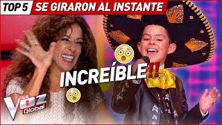 GIRARON las sillas al INSTANTE por estas AUDICIONES en La Voz Kids