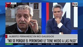 """Mensaje de Alberto Fernández a Lavagna y Massa: """"No sé por qué el peronismo tiene miedo a las PASO"""""""
