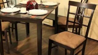 Презентация обеденного комплекта Джастин стол+4 стула