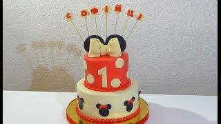 Торт Микки Маус Как собрать и украсить торт Торты для детей из мастики Cake Minnie Mouse