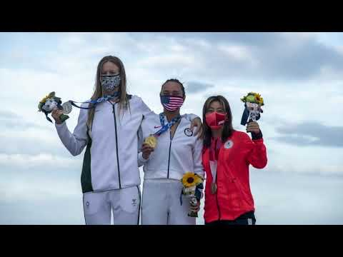 'Dance party:' American Carissa Moore wins gold medal in surfing's ...