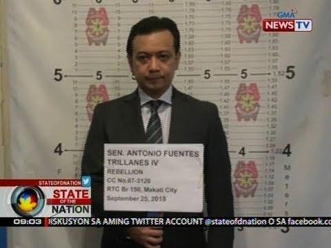 SONA: Sen. Trillanes, inaresto sa kasong rebelyon kaugnay ng Manila Peninsula siege