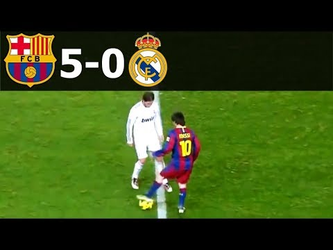 FC Barcelona Vs Real Madrid 5-0 Goals And Highlights With English Commentary 2010-11 HD 720p