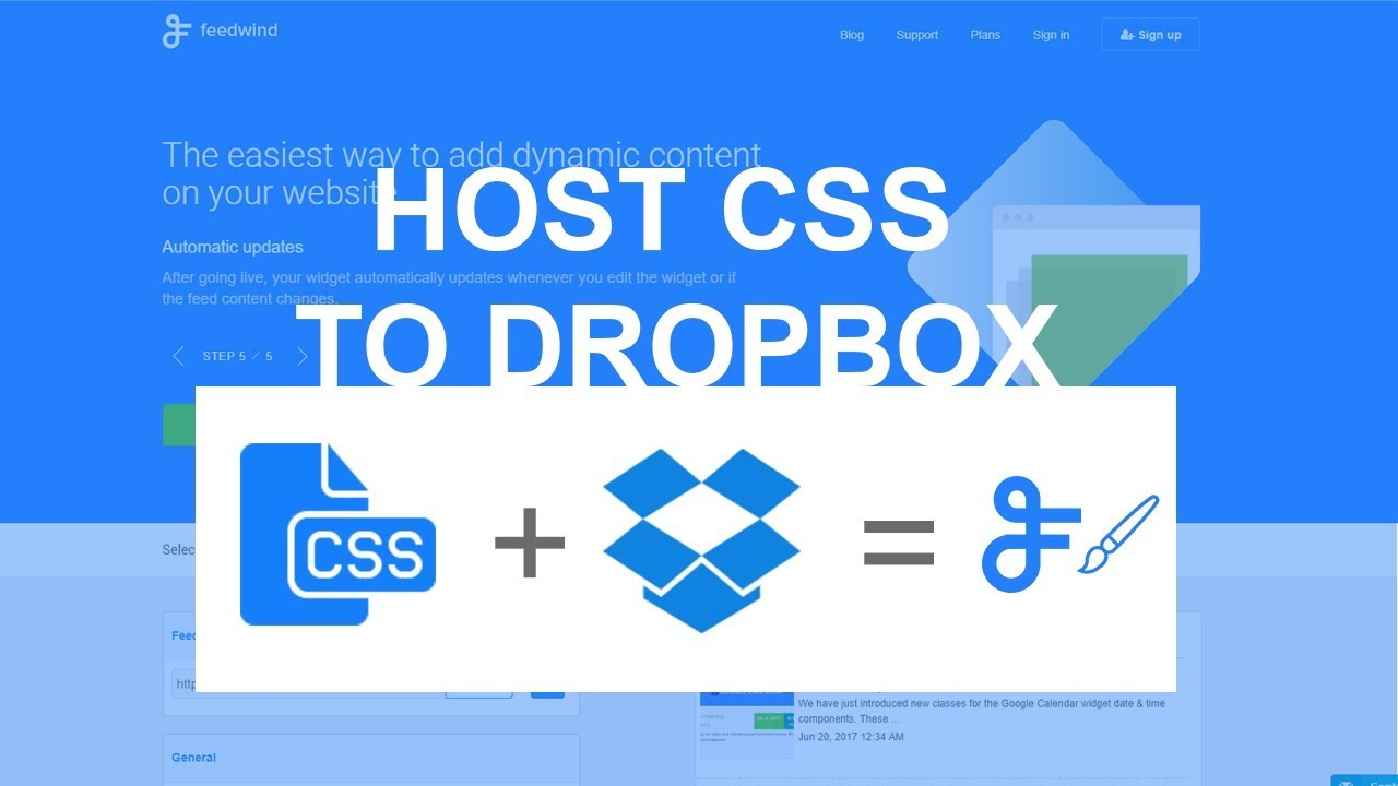 Hosting CSS on Dropbox : FeedWind Support