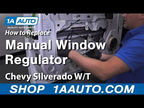 How to Replace Manual Window Regulator Chevy Silverado Work Truck 07-09