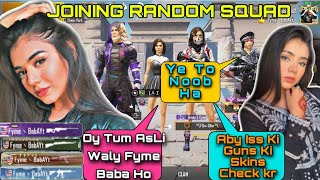 JOINING RANDOM SQUAD OF GIRLS LIKE A RICH BOT | FYME BABA | PUBG MOBILE❤️