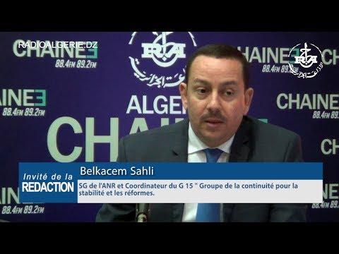 Belkacem Sahli SG de l'ANR (Alliance nationale républicaine )