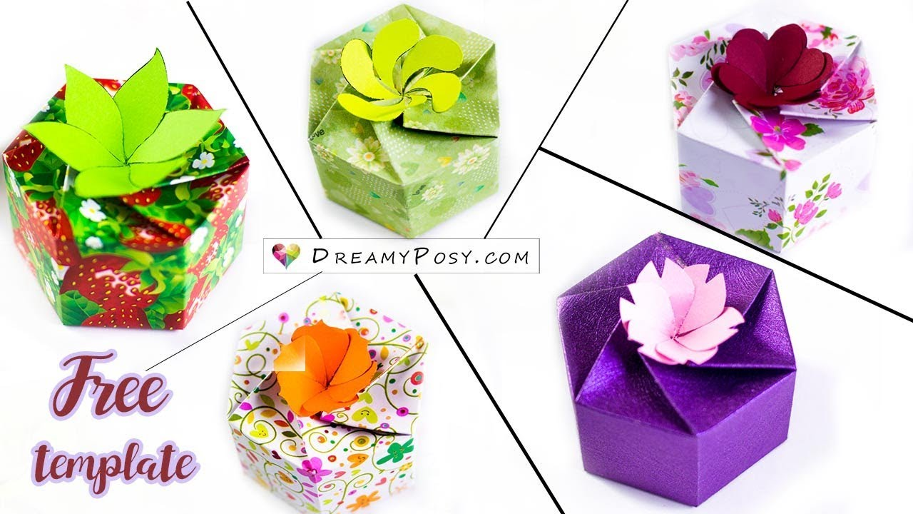 Free template: How to make 5 personalized gift boxes - YouTube