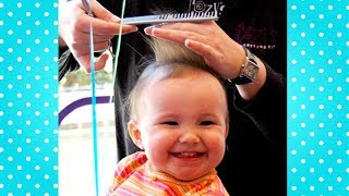Cutest Babies Reaction in The First Time They Cutting Hair -  Funny Baby Video Compilation