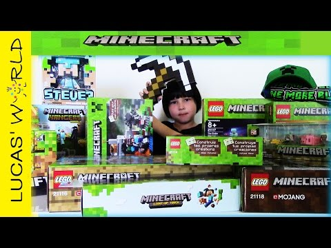 LEGO MINECRAFT Collection & Minecraft Surprise Toys Review