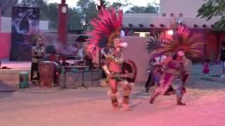Aztec Dancers & Totonac Pole Flyers @ New Mexico State Fair Indian Village Clip 1