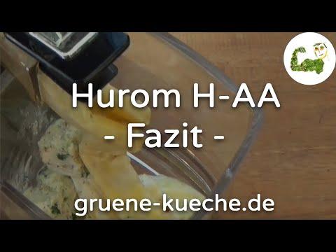 Hurom H-AA Teil 4 - Slow Juicer in der Zusammenfassung