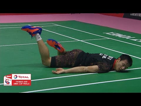 Thomas Cup | Shi Yuqi takes smash to perfection vs Chinese Taipei | BWF 2018